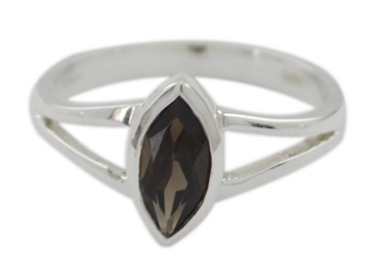 925 Silver Brown Smokey Quartz Genuine Gems Ring Genuine Gems Round cabochon Smokey Quartz Ring Home d/écor Great Seller Gift for Good Friday Oval Cut